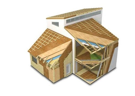 Первые дома каркасного типа
