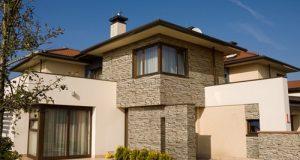 фасад дома камень отделка