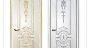 Белые два дверных полотна